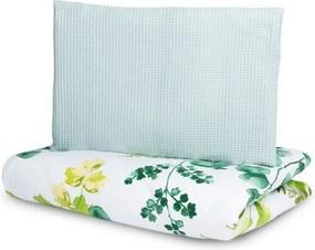Set lenjerie de pat 100% bumbac cu 2 piese Sensillo Eucalipt Verde