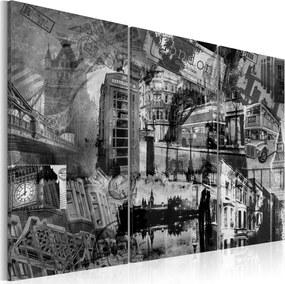 Tablou Bimago - The essence of London - triptych 60x40 cm