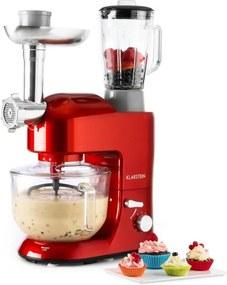 Klarstein Lucia Rossa 2G, robot de bucătărie, mixer, tocător de carne, 1200 W, BPA-Free