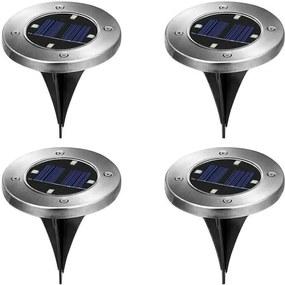 4 buc lampi solare incorporabile pentru exterior