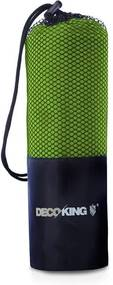 Prosop cu uscare rapidă DecoKing EKEA, 40 x 80 cm, verde lime