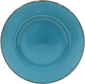 Farfurie pentru servit din gresie ceramică Casafina Sardegna, ⌀ 34 cm, albastru