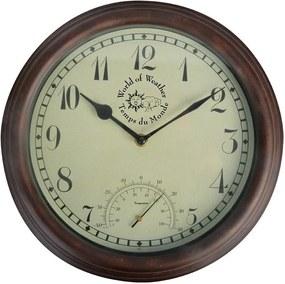 Ceas de perete cu termometru pentru exterior Ego Dekor Time
