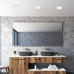 WHITE mini plafonieră pentru baie cu LED 12W