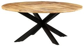 321684 vidaXL Masă de bucătărie, 175x75 cm, lemn de mango nefinisat, rotundă