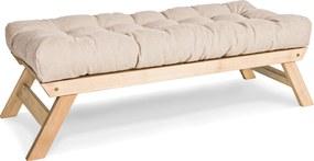 Banca Allegro Cream Natural 140x50x43 cm