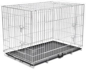 Cușcă pentru câini pliabilă, metal, XXL