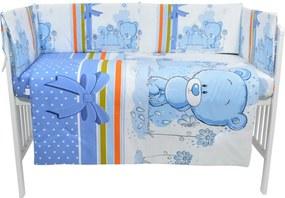 Lenjerie patut cu 5 piese Blue Bear with ribbon