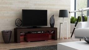 Mazzoni Masă RTV MILANO 130 + LED wenge / burgund