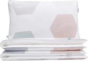 Lenjerie de pat din bumbac Mumla Hexagons, 140 x 200 cm