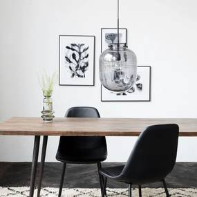 Lampa Suspendata din Sticla si Metal BALL - Sticla Gri diametru(30cm) x inaltime(35cm)