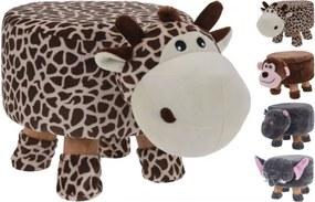 Taburet Karll Anymo, modele animalute: maimuta/ elefant/ hippo/ girafa