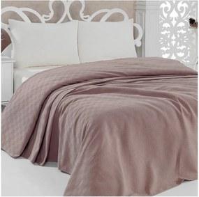 Cuvertură subțire de pat Pique Brown, 200 x 240 cm