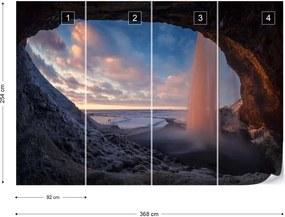 Fototapet GLIX - Seljalandsfoss 2 + adeziv GRATUIT Tapet nețesute  - 104x70 cm