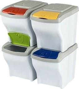 Coşuri gunoi pentru deşeuri selectate 4 x 20 litri
