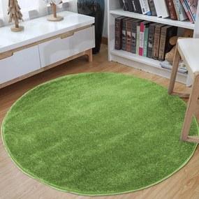 Covor rotund de culoare verde Lăţime: 80 cm   Lungime: 80 cm
