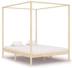283254 vidaXL Cadru pat cu baldachin, 160 x 200 cm, lemn masiv de pin