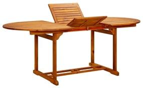 41818 vidaXL Masă de grădină, 200 x 100 x 74 cm, lemn masiv de acacia
