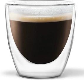 Set 2 pahare cu perete dublu Vialli Design Ronny Espresso, 80 ml