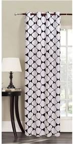 Draperie din microfibră DecoKing Rhombuses, 140 x 245 cm, alb