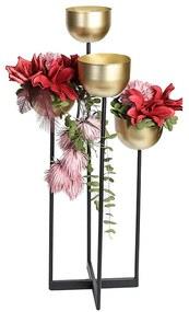 Suport flori QUATTRO, metal, 97 cm