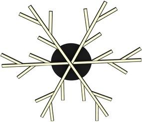 Samos - Plafonieră neagră sub formă de fulg de zăpadă