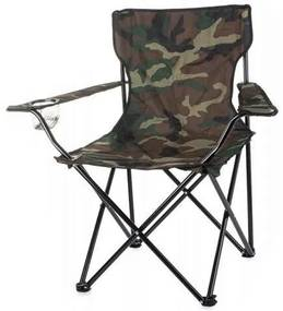 Scaun pliabil camuflaj pentru camping, gradina, pescuit, 85x53x85 cm