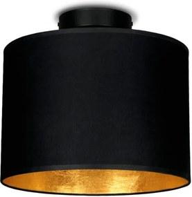 Plafonieră Sotto Luce Mika, ⌀ 25 cm, negru - auriu