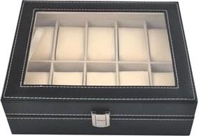 Cutie Caseta Organizatoare pentru Ceasuri, Bijuterii sau Bratari cu 10 Compartimente