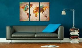 Tablou din plută - Painted World 120x80 cm