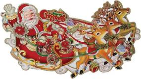 Decorațiune de Crăciun Rex London Kitsch Santa Sleigh