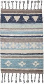 Covor din bumbac pentru copii Bloomingville Cool, albastru - gri