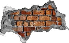 Fototapet 3D gaură în perete Zid de cărămidă