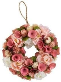 Jannah Ghirlanda decorativa cu flori artificiale, Plastic, Multicolor