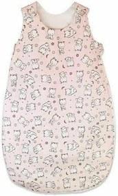KidsDecor - Sac de dormit fara maneci Baby bear 70 cm din Bumbac, 70x30 cm, 3-9 luni, Tog 1.0, Roz
