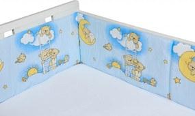 Aparatori laterale pentru pat Ursuletul somnoros Albastru