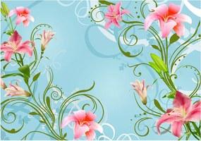 Bimago Fototapet - Subtle beauty of the lilies II 400x280 cm