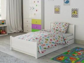 Lenjerie de pat din bumbac Păsări albe