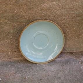 Farfurie pentru ceasca Gardena din ceramica turcoaz 14 cm