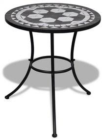 Masa cu blat mozaic 60 cm Alb/Negru