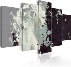 Tablou - Black or white? - 5 pieces 100x50 cm