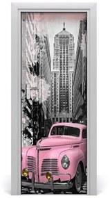 Autocolante pentru usi Autoadeziv usa masina roz