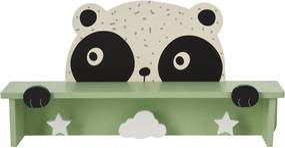 Cuier din lemn cu poliță Hatu, panda