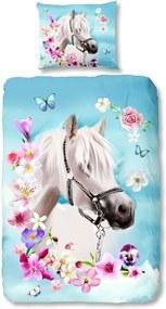 Lenjerie de pat din bumbac pentru copii Good Morning My Beauty, 140 x 200 cm