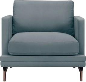 Fotoliu picioare metalice aurii Windsor & Co Sofas Jupiter, gri