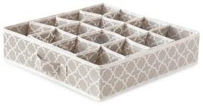 Organizator cu 16 compartimente pentru sertare Compactor, 40 x 40 cm, bej