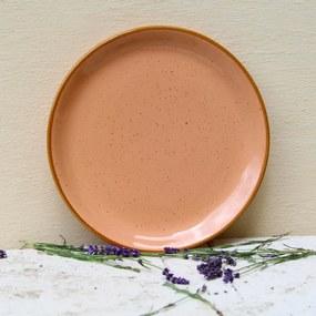 Farfurie intinsa Gardena din ceramica corai 24 cm