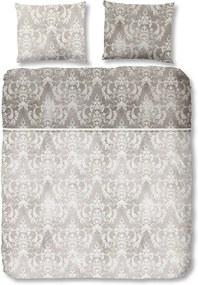 Lenjerie de pat din bumbac satinat Descanso Grey, 135 x 200 cm