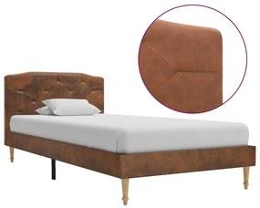 280562 vidaXL Cadru de pat, maro, 90 x 200 cm, piele întoarsă artificială