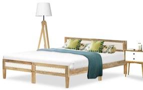 288426 vidaXL Cadru de pat, lemn masiv de mango, 140 cm